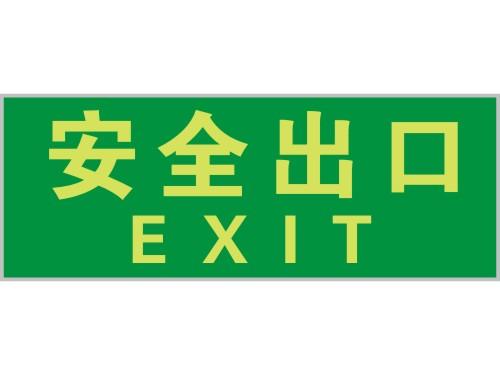 无箭头指向带英文夜光安全出口标志牌有现货